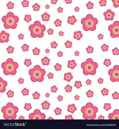 Pink flowers design Royalty Free Vector Image - VectorStock