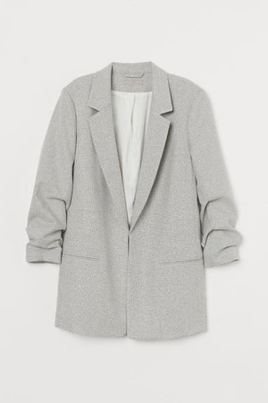 Jacket with Gathered Sleeves - Light gray - Ladies | H&M US