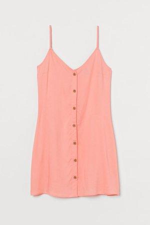 Button-front Dress - Apricot - Ladies | H&M US