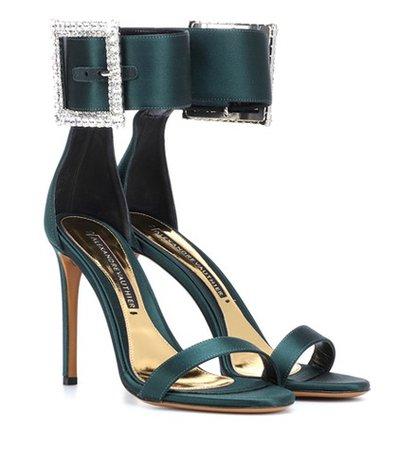 Yasmin embellished satin sandals