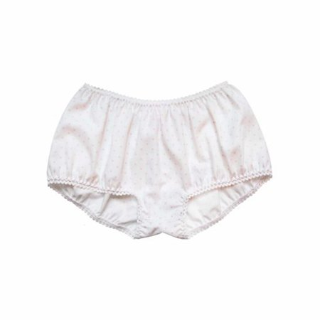 "White ""Bloomer"" panties with pink stars 
