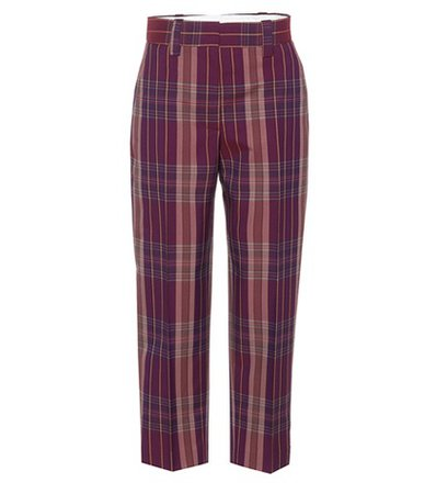 Trea plaid wool-blend trousers