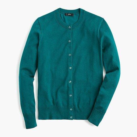 J.Crew: Cotton Jackie Cardigan Sweater For Women