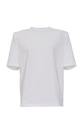 Padded-Shoulder Jersey T-Shirt By The Attico | Moda Operandi