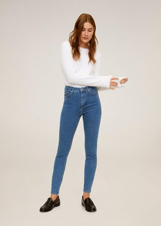 Noa high-waist skinny jeans Mango