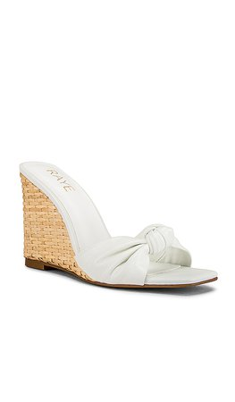 RAYE Zou Wedge in White | REVOLVE