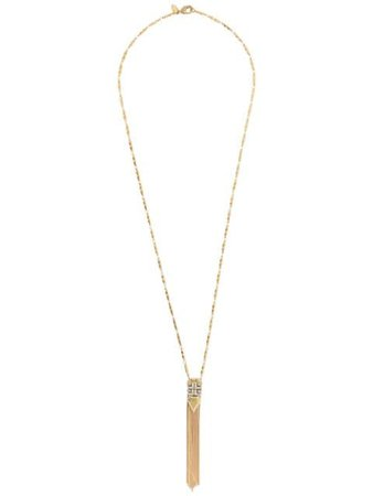 Iosselliani White Eclipse Pendant Necklace C51816SS Gold | Farfetch