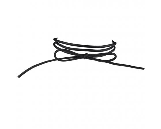 Black Faux Leather Wrap Bow 90s Choker Necklace