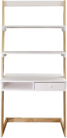 Amazon.com: American Trails Freestanding Ladder Desk With Drawer, Natural Maple/White: Kitchen & Dining