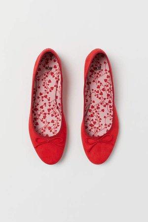 Ballet Flats - Red