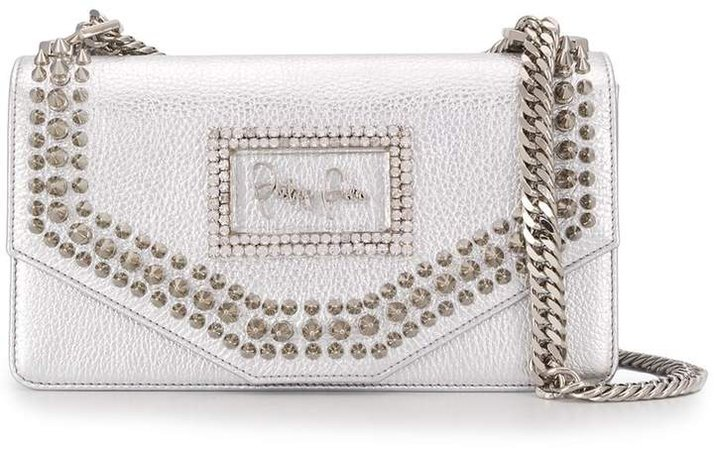 Metallic Studded Shoulder Bag