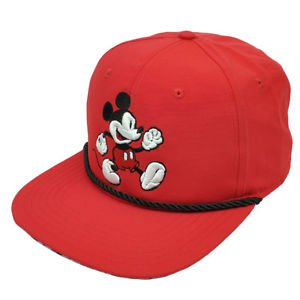 Red Mickey Mouse Disney Snapback
