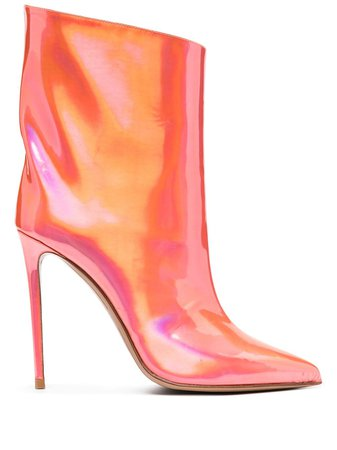 Alexandre Vauthier holographic pointed boots red ALEXLOW110X - Farfetch