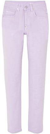 Pushbutton Mid-rise Straight-leg Jeans
