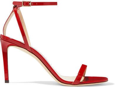 Minny 85 Patent-leather Sandals - Red