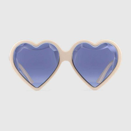 Heart-frame acetate sunglasses - Gucci Gifts for Women 520119J00709077