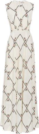 Emilia Wickstead Giordana Printed Silk Maxi Dress