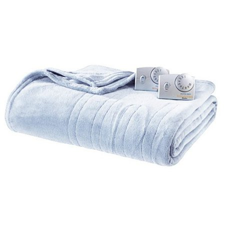 Amazon.com: Biddeford 2033-903291-516 MicroPlush Electric Heated Blanket Queen Parade Blue: Home & Kitchen
