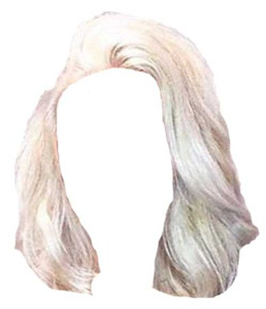 Platinum Blonde Short Wavy Hair