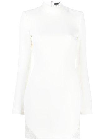 White David Koma skyline embroidered mini dress