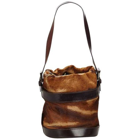 Fendi Brown Ponyhair Bucket Bag For Sale at 1stdibs