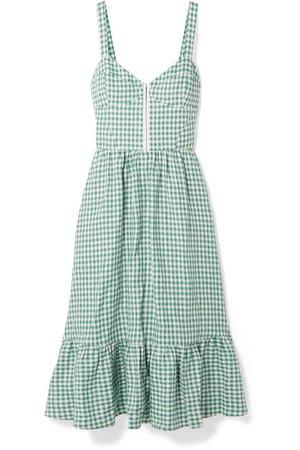 Dolci gingham linen midi dress