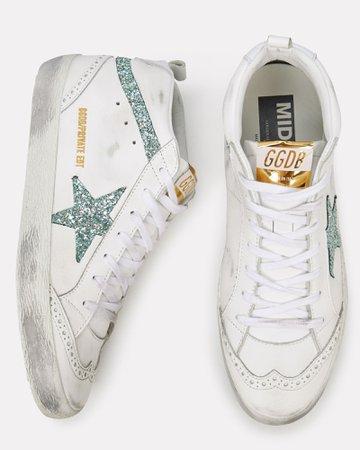 Golden Goose   Mid Star Glitter Sneakers   INTERMIX®