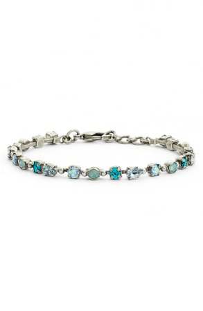 Sorrelli Straight & Narrow Crystal Tennis Bracelet | Nordstrom