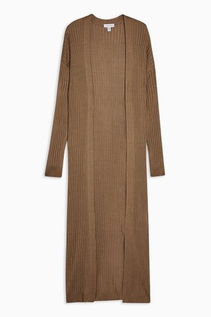 Knitted Longline Cardigan | Topshop camel