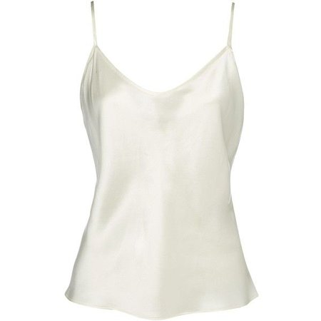 white camisole tank top silk