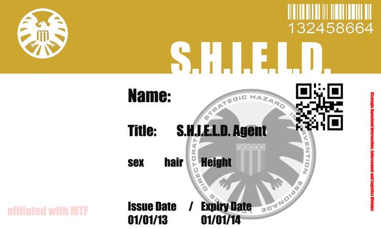 S.H.I.E.L.D Agent Identification Card