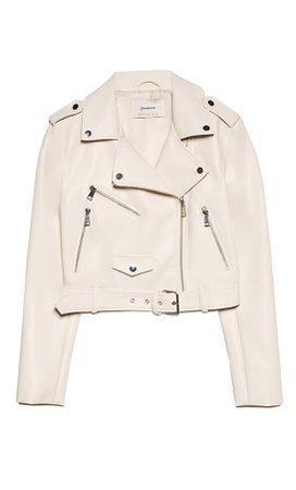 Базовая куртка из искусственной кожи с ремнем - Женские Куртки и жакеты | Stradivarius Россия