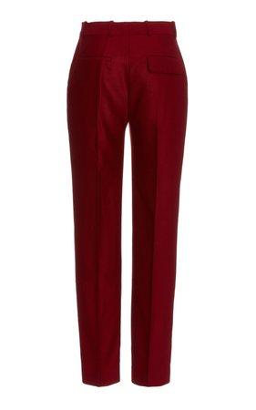 Drainpipe Wool Flannel Trousers by Victoria Victoria Beckham | Moda Operandi