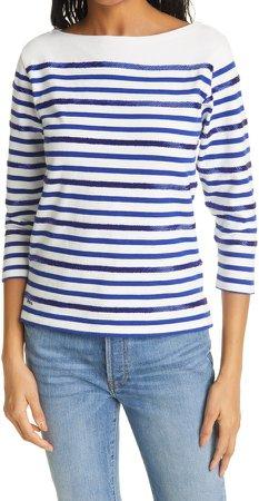 Stripe Embellished T-Shirt