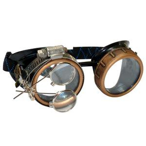 Steampunk Goggles Rave Glasses crystal clear lenses jewelry eye loupes - UMBRELLALABORATORY