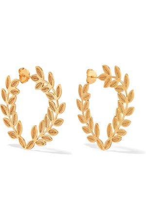 Mallarino | Lauren gold vermeil hoop earrings | NET-A-PORTER.COM