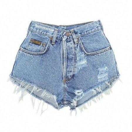 "ALL SIZES ""PLAINO"" Vintage Levi High-Waisted denim shorts blue distressed frayed jeans"