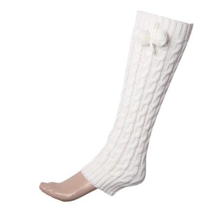 Women's Warm Bowknot Boot Chuzzle Knit Leg Sockings Winter Leg Warmer – WickyDeez