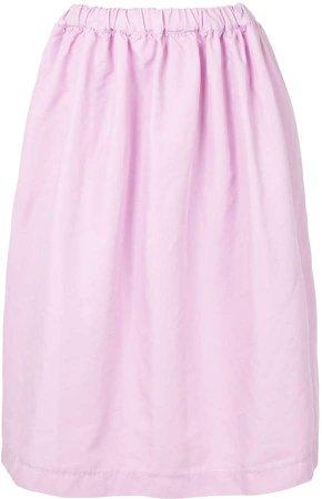 Elasticated Waist Flared Skirt