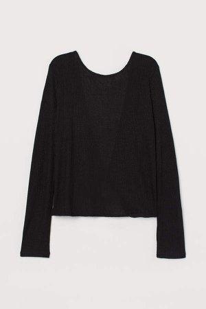 Rib-knit Top - Black