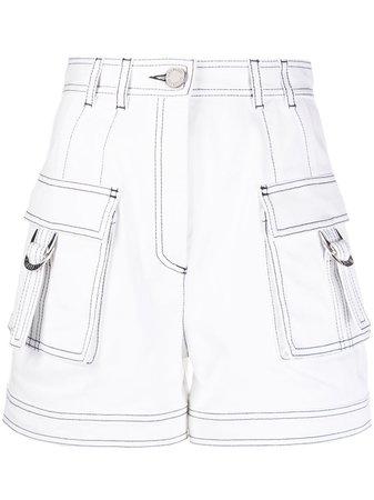 Balmain Short à Coutures Contrastantes - Farfetch