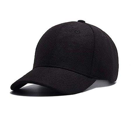 GADIEMENSS Cap for Men Hats Baseball Woolen Fabric for Autumn Winter (Size:55-60cm)