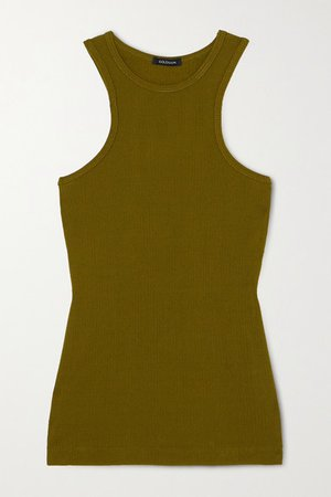 Net Sustain Ribbed-knit Tank - Green