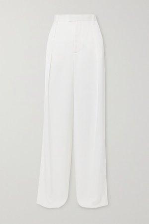 Silk-satin Pants - Ivory