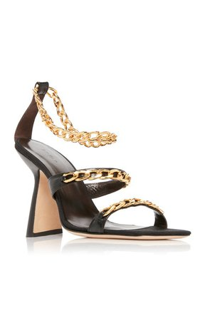 Gina Embellished Leather Sandals by BY FAR | Moda Operandi
