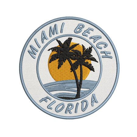 high country sales us Miami Beach Florida Palm Tree Golden Sun 3.5 | Etsy