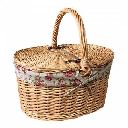 picnic basket w/ ribbon