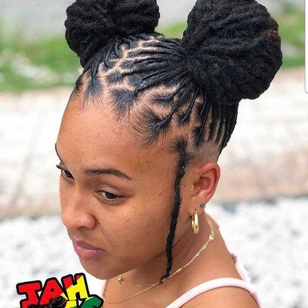 dreads styles women - Google Search
