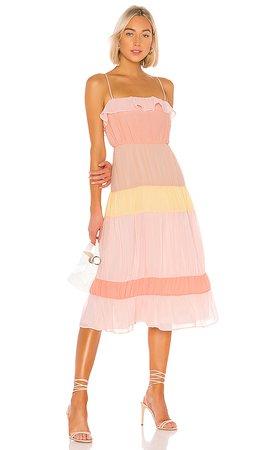 Lovers + Friends Acer Midi Dress in Sherbet   REVOLVE