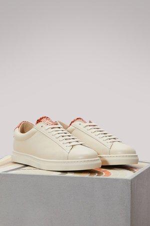Viper skin nappa sneaker